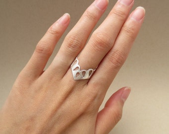 Sterling Silver Lace Ring