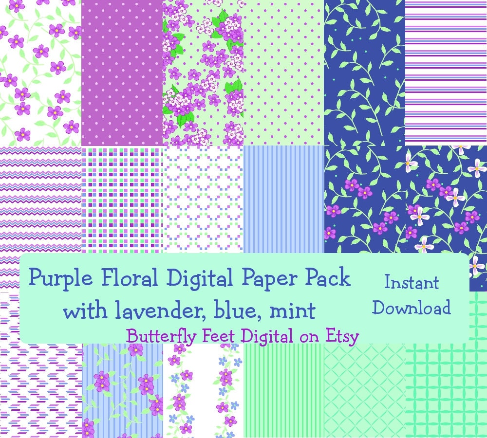 It is a photo of Universal Purple Scrapbooking Paper