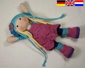 Crochet pattern for doll SUE (Deutsch, English, Nederlands)