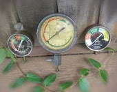 Vintage Automobile Fuel Pump Pressure Gauges Set of 3 Snap On Tools Truck Tractor Display Art Supply Graphics