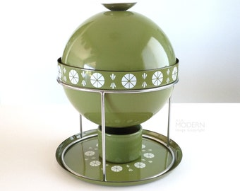 Vintage Cathrineholm Norway Viking Green Enamel Fondue Soup Tureen