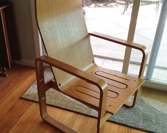 Thonet Bentwood Sled Base Lounge Armchair Mid Century Modernist Furniture