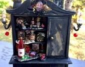 Black Friday sale- dollhouse miniature haunted house vampire cabinet