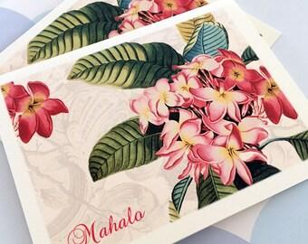 Hawaiian Thank You Cards - Mahalo - Set of 6