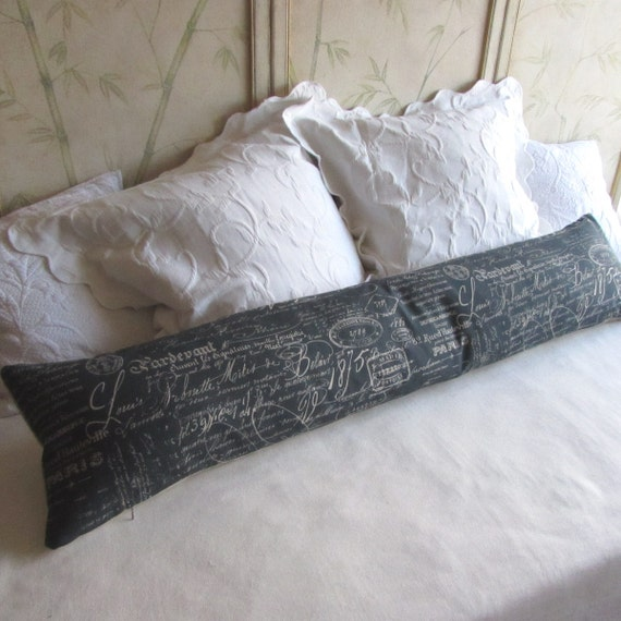 Decorative Pillows Long : FRENCH SCRIPT long decorative bolster pillow by theBolsterQueens