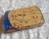 Wild West Map Cigar Box  Vintage by Quilted Nest