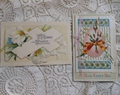 2 Easter Postcard Booklets Egg Pussy Willow Vintage at Quiltednest