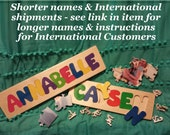 Wooden Custom Name Puzzle - any name International Shipping