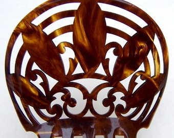 Vintage hair comb Victorian faux tortoiseshell Spanish mantilla comb hair accessory hair pin hair jewelry headpiece
