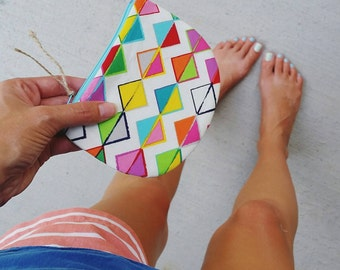 Zippered Coin Purse {Summer Triangles} Be Organized