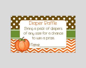 Diaper Raffle for Little Lil' Pumpkin Baby Shower ~ INSTANT DOWNLOAD