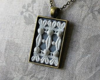 Art Nouveau Necklace, Unique Victorian Wedding, Lace Jewelry