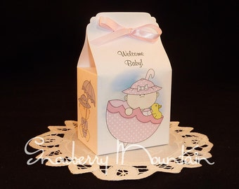 Rainy Day Baby Shower Favor Box Kits - Girl - Set of 12