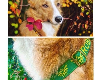 Hylian Crest Dog Collars