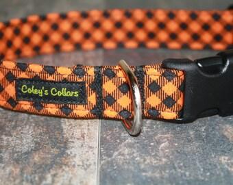 "Dog Collar ""The Pumpkin Plaid"""