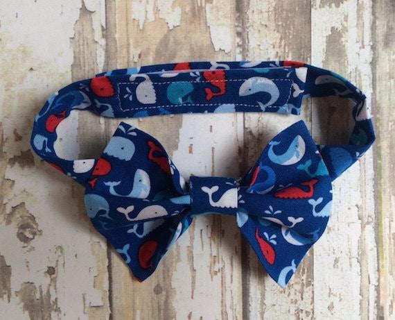 Boys whale bow tie boys nautical bow tie boys fish bow tie for Fish bow tie