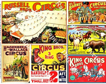 Circus Clip Art Posters Digital Carnival Posters Circus Train Circus Shows Wild Animal Collage Circus Stickers Clowns Acrobat ClipArt, 396