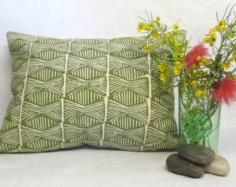 Decorative Tribal Pillows - Green Decorative Tribal Poylnesian Pillows
