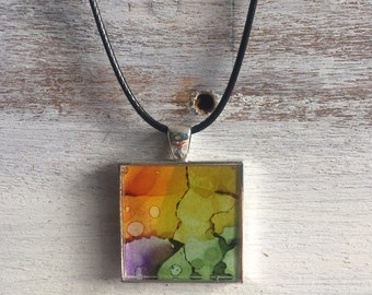 Colorful necklace pendant