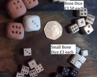 Dice- Bone, Horn, Clay or Wood