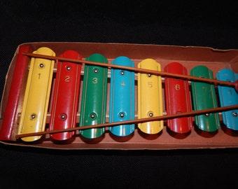 Children's Old Wooden  Xylophone