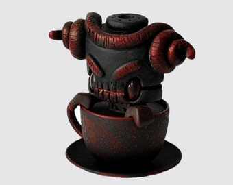 Custom Vinyl Mini Tea - Demon