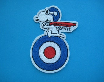 Iron-on Embroidered Patch Snoopy the Pilot 3.5 inch