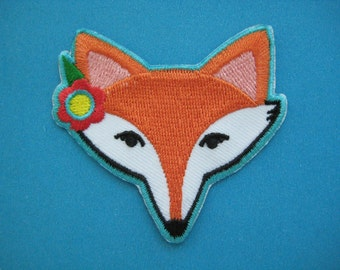 Clearance~ 3 pcs Iron-on embroidered Patch Fox 2.3 inch