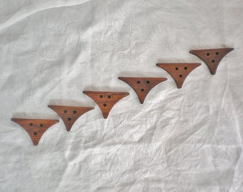 Handcrafted Chunky Wood Buttons,  Yucatan Rosewood, set of six