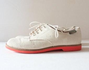 50% half off sale // Vintage Canvas Oxfords Shoes - Women 6M - 1980s Bass