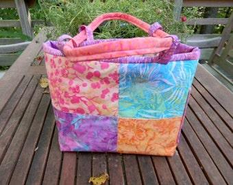 Medium Multi Color Batik Handbag/Shoulder Bag  OOAK