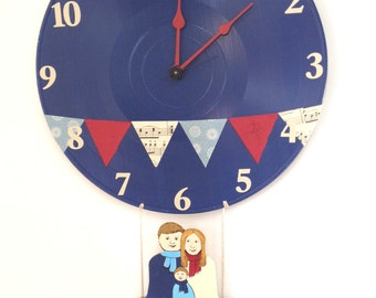 Custom Nursery Hot Air Balloon Wall Clock