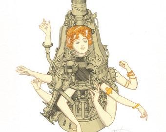 Wargirl // Original Screenprint