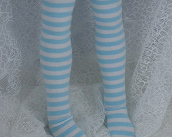 Mini Dollfie Dream MDD Super Dollfie MSD Blue White Stripe Socks