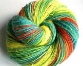 Vitamine C - BFL w BabyAlpaca - single thread handspun shawl yarn 108gr 400m
