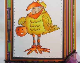 Handmade Card, Greetings, Gift, Fall, Halloween, Occasions, Art Impressions, Halloween Tweet Treats - Handmade Greeting Card Watercolored