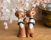 Red Fox Wedding Cake Topper by Bonjour Poupette