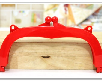 "7 inch Purse Frame,Jelly Clip,18 cm, bag frame,handbag frame, plastic acrylic resin closure, 7"",4 color"