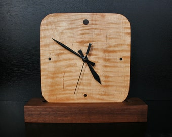 Clock - Maple and Walnut