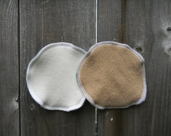 Nursing Pads Absorbent Breastfeeding Pads One Pair Three Layers Organic Merino Wool Interlock /Upcycled Merino Wool