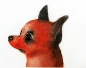 Etching / limited edition original etching (printmaking / graphic art) / original print / original art / dog art / dog etching - 'Foxy'