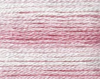 Cosmo, 6 Strand Cotton Floss, SE80-8004,  Seasons Variegated Embroidery Thread, Pinks, Punch Needle, Embroidery, Sewing Accessory