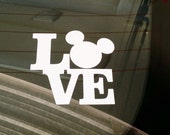 "Vacation Sticker, Mickey Mouse Inspire, Vinyl Decal Stickers, Car Truck Decal, Disneyland,4""H x 4""W,Window decal, Laptop, DIY, Computer,iPad"