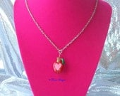 Sliced Apple Pendant Necklace My Little Pony Friendship is Magic Apple Jack Family Reunion Handmade Custom by TorresDesigns - Ready To Ship