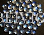 Natural Rainbow Moonstone Round Cabochon - 6mm - AA - Gemstone - Supplies - Round - Cabochon - KL018