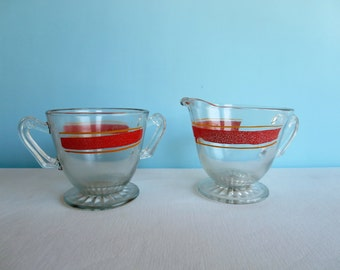 Vintage Sugar Bowl and Cream Pitcher