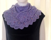 purple -lavander Fashion Holiday Accessories,Red knitting Triangle Shawl  holiday accessories lace fashion