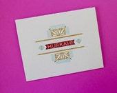 Hurrah Letterpress Card