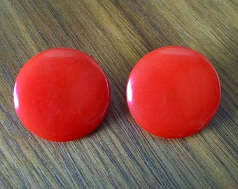 Vintage Cherry Red Bakelite Earrings FREE SHIPPING!!