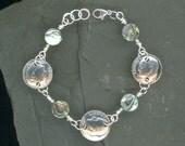 40th Birthday Gift 1976 Dime Coin Paua Shell Bracelet 40th Birthday Gift Jewelry 1976 40th Anniversary Gift Women